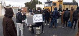 وقفة سلمية لسكان قرية خرمام للمطلبة السلطات الولائية بغاز المدينة
