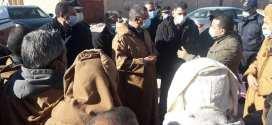 السيد الوالي عبد القادر جلاوي في زيارة عمل وتفقد لدائرة جبل مساعد