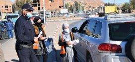 جمعية امل بالتنسيق مع امن الدائرة تقوم بحملة تحسيسية وتوزع الكمامات