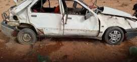 حادث مرور  انقلاب سيارة خلف إصابة 03  ببلدية سيدي عامر
