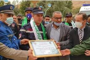 احتفالية بساحة المسجد الكبير بمناسبة اليوم العالمي للحماية المدنية