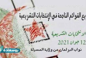 توزيع القوائم الناجحة في الإنتخابات التشريعية