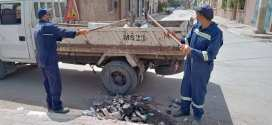 دائرة سيدي عيسى حملة نظافة تشمل حواف الأودية و الطرقات