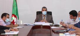 اجتماع الأمين العام للولاية لدراسة وضعية استهلاك القروض و غلق المشاريع المنتهية