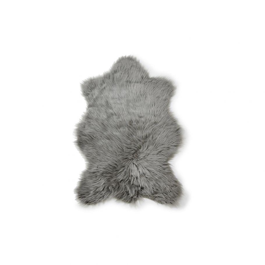 tapis effet peau de mouton gris