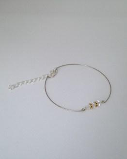 Bracelet or et transparent