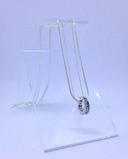 Collier double avec pendentif certi de cristaux