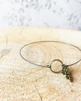 Bracelet bronze et noir