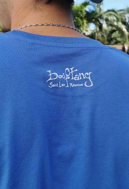 Tee-Shirt Tortue - Sérigraphie artisanale - Saint-Leu île de la Réunion - Coton 100% Biologique - Équitable - Bouftang Art