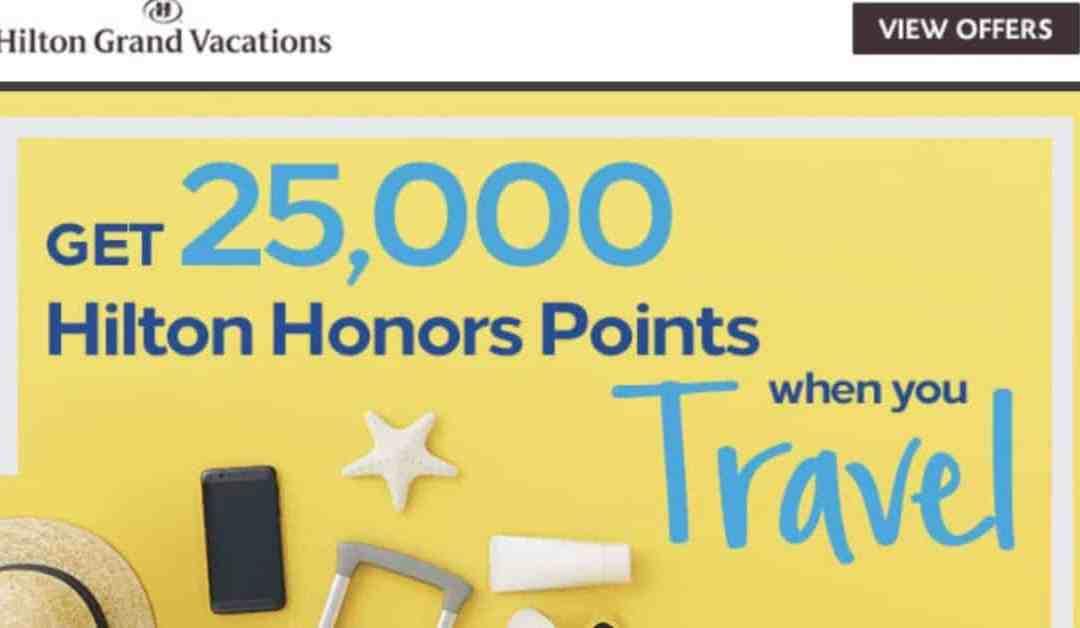 Hilton Timeshare Offer: $199 4 Nights + 25K Points