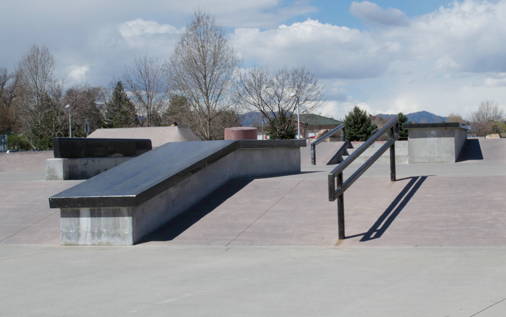 Lafayette's park has street features, like stairs and rails, as well as beginner's features, like shallow bowls.