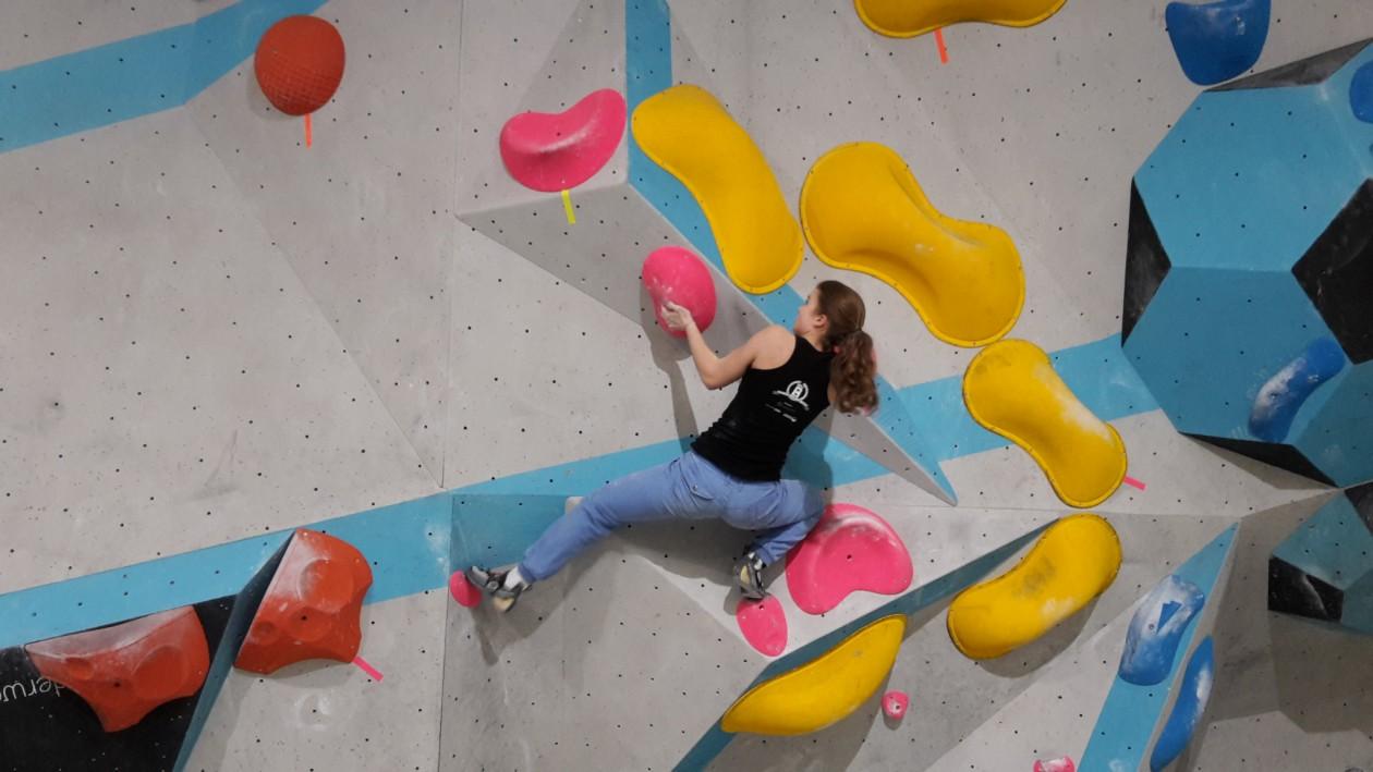 Wettkampf Simulation für die Boulderwelt Youngsters
