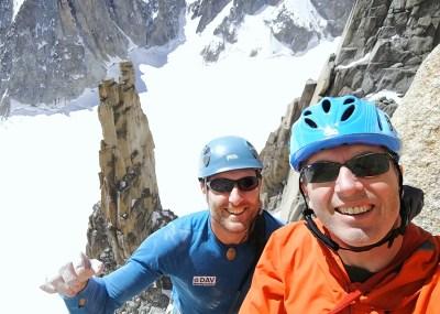 Boulderwelt Athletenteam Trainer Tom und Christoph waren auf dem Gran Capucin unterwegs