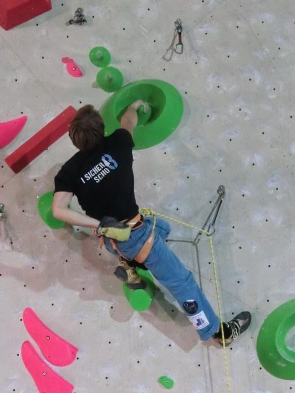 Boulderwelt Athletenteam beim I sicha scho