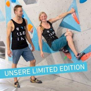 """""""bouldering"""" Limited Edition der Boulderwelt - schicke Merchandise Klamotten"""
