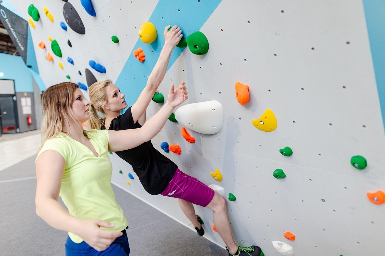 Bouldern in der Boulderwelt, Bouldersession