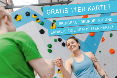Gratis 11er Karte mit der Bring your friend Stickerkarte