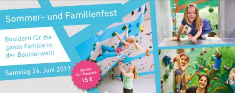 Sommer- und Familienfest 2017 in der Boulderwelt Frankfurt am 24.6.
