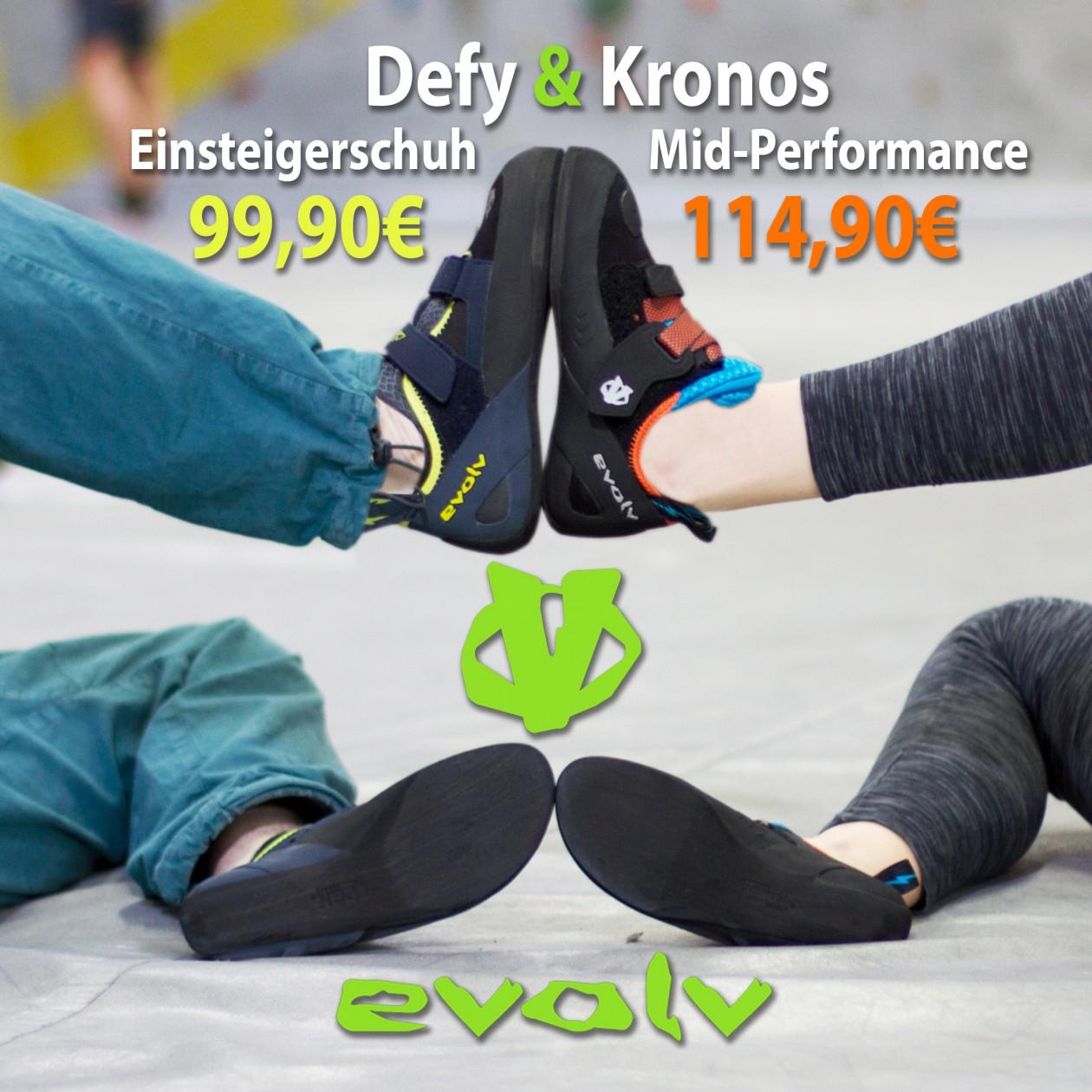 Shopnews Evolv Defy und Kronos Kletterschuhe