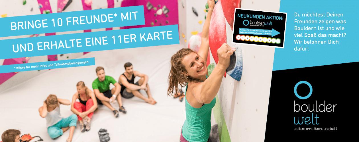 Neukunden Bonus-Karte in der Boulderwelt Frankfurt