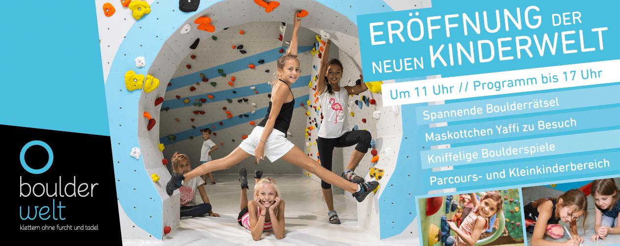 Eröffnung der neuen Kinderwelt in der Boulderwelt Frankfurt am 10.3.2018