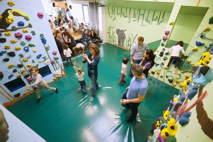 Impressionen von der Eröffnung der neuen Kinderwelt der Boulderwelt Frankfurt am 10.3.2018