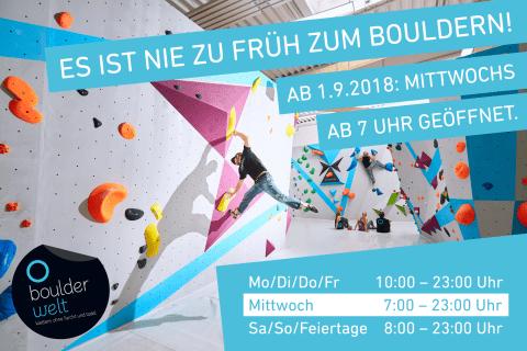 2018-Boulderwelt-Frankfurt-Bouldern-Klettern-neue-Öffnungszeiten-Early-Bird