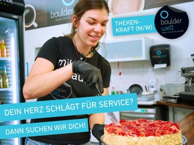 Stellenausschreibung Thekenkraft Service Boulderwelt Frankfurt Minijob