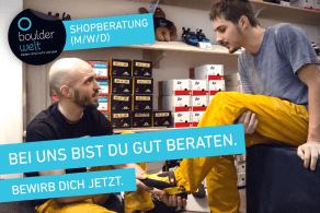 Die Boulderwelt Frankfurt sucht Shopberater