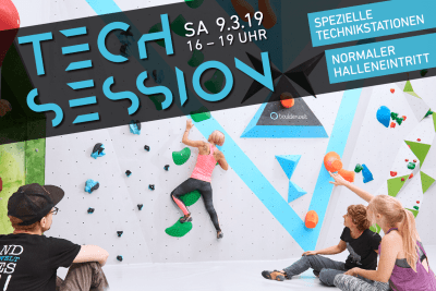Erste Tech Session 2019 am 9.3.19 in der Boulderwelt Frankfurt