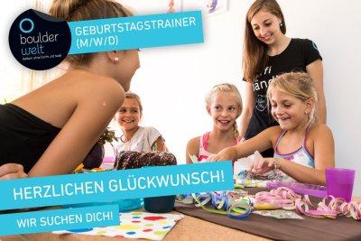Die Boulderwelt München Ost sucht Geburtstagstrainer