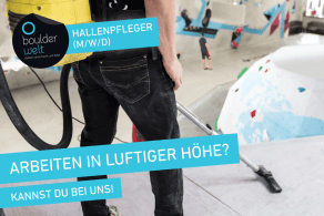 Die Boulderwelt München Ost sucht Hallenpfleger.