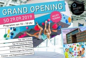 Neuer Termin am 29.9.19 für die Eröffnung der neuen Boulderwelt München Ost