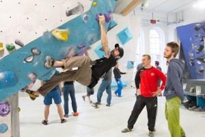 Erste Tech-Session in der Boulderwelt München West am 10.02.2018