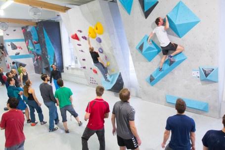 Tech-Session in der Boulderwelt München West