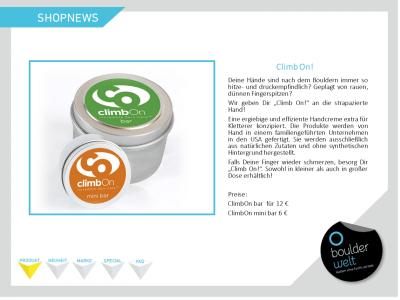 2016 Shopnews Produkt ClimbOn