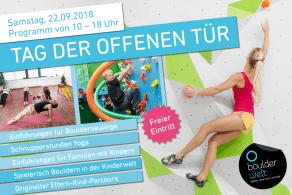 Tag der offenen Tür am 22.9.18 in der Boulderwelt Regensburg