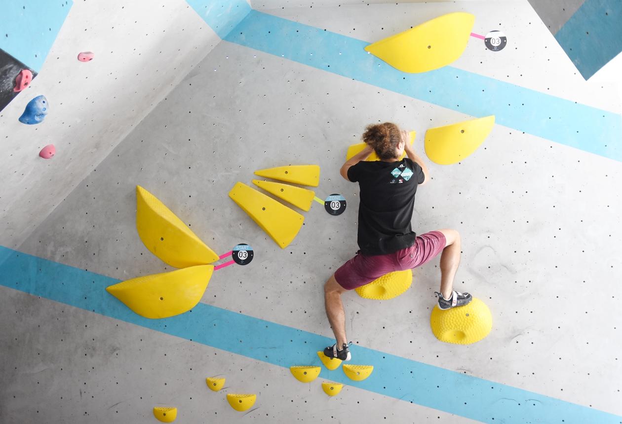 Eindrücke von der ersten Runde Soulmoves Süd 11 in der Boulderwelt München Ost