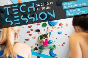 die Tech Session geht am 26.10.2019 in der Boulderwelt Regensburg in die zweite Runde!