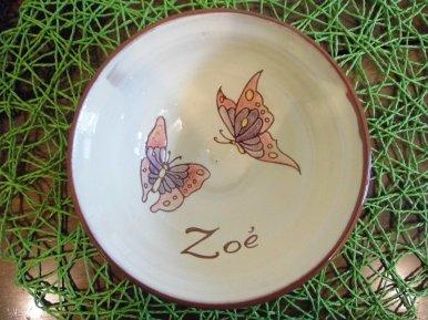 Bol personnalisé Papillon Zoé