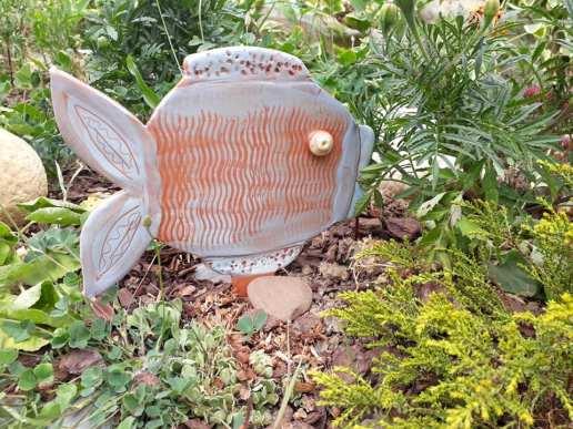 Poisson de décoration pour jardin