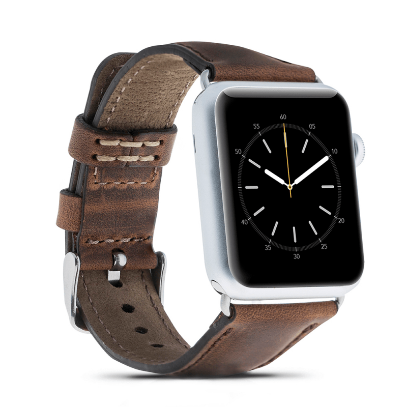 4c86c1749d196 Brown Leather Apple Watch Band