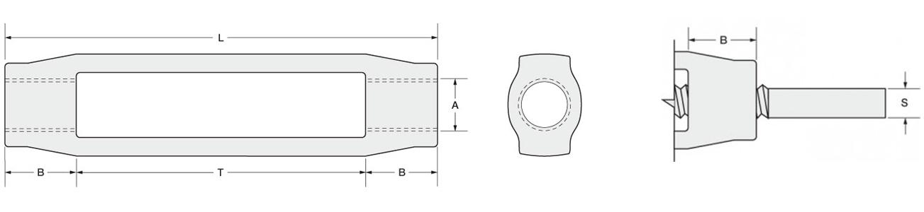 turnbuckles Dimensions