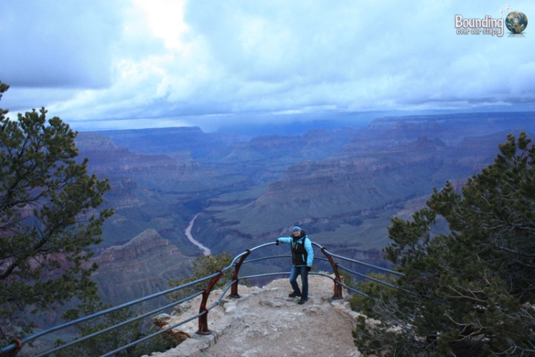Metallic blue sky over the Grand Canyon from Mohave Point