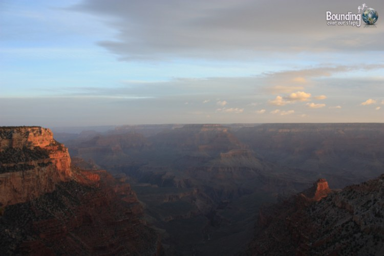 Gorgeous photo at sunrise in Grand Canyon National Park