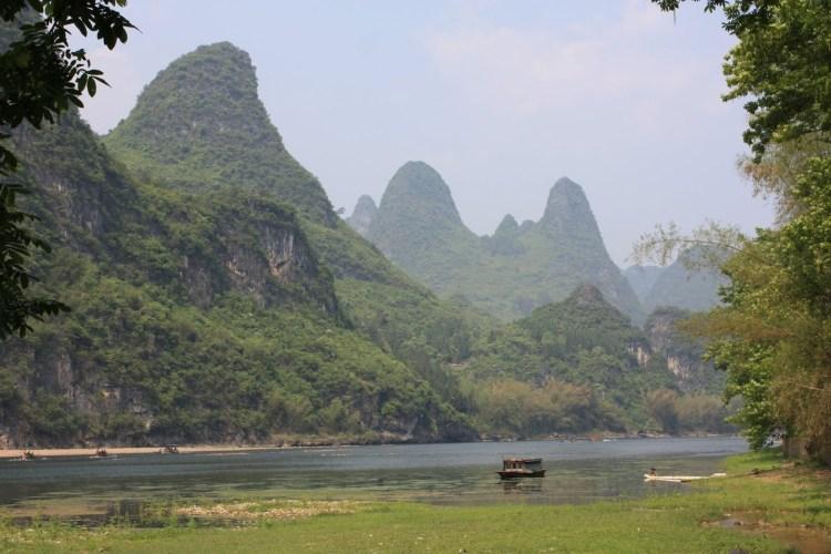 Hiking Along the Li River - Yangshuo - River and Karst Peaks