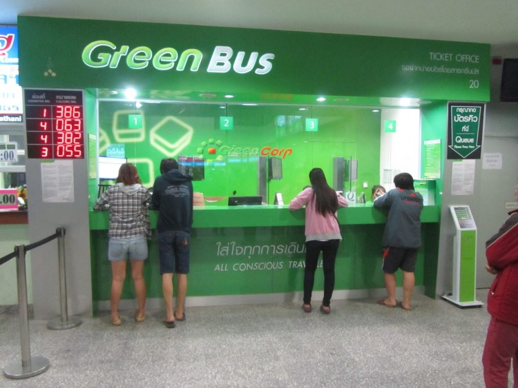 Green Bus Ticket Counter