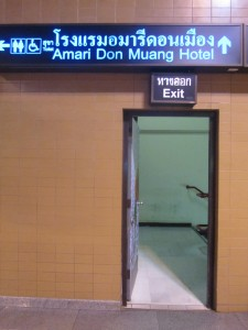 Exit to Train Station at Don Mueang Airport