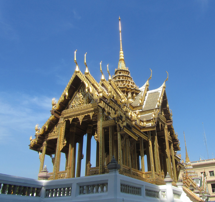 Temple building within the Grand Palace in Bangkok, Thailand