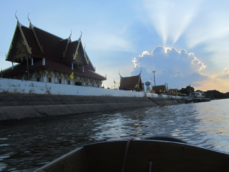 Ayuthaya boat trip at sunset